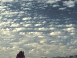 CM=3 Altocumulus, semi transparent, cloud elements change slowly. One level.